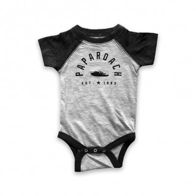 papa-roach - Classic Arch Onesie (Heather Grey)