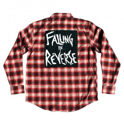 Falling In Reverse - Lips + Back Patch Flannel