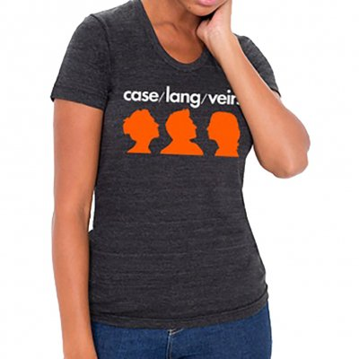 case-lang-veirs - Orange Silhouette Womens Tee