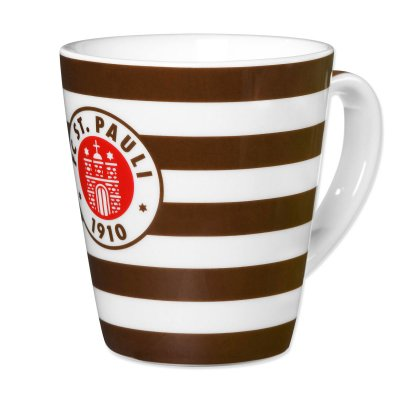 Striped Crest Coffee Mug