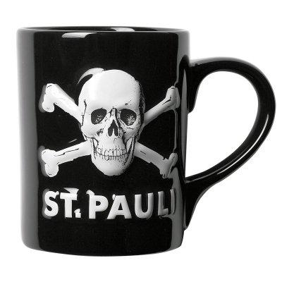 FC St Pauli - Kaffeebecher St. Pauli Skull 3D