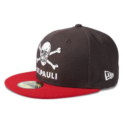fc-st-pauli - St. Pauli Skull 59Fifty Fitted Cap (Brown/Red)