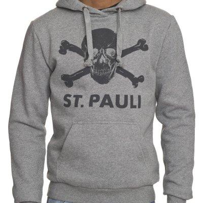 FC St Pauli - St. Pauli Skull Pullover Hoodie (Heather Gray)
