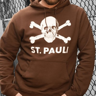 FC St Pauli - St. Pauli Skull Pullover Hoodie (Brown)