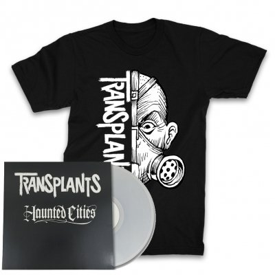the-transplants - Ltd. Edition Haunted Cities LP + Half Mask T-Shirt