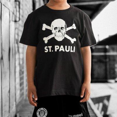 fc-st-pauli - St. Pauli Skull Kids Tee (Black)