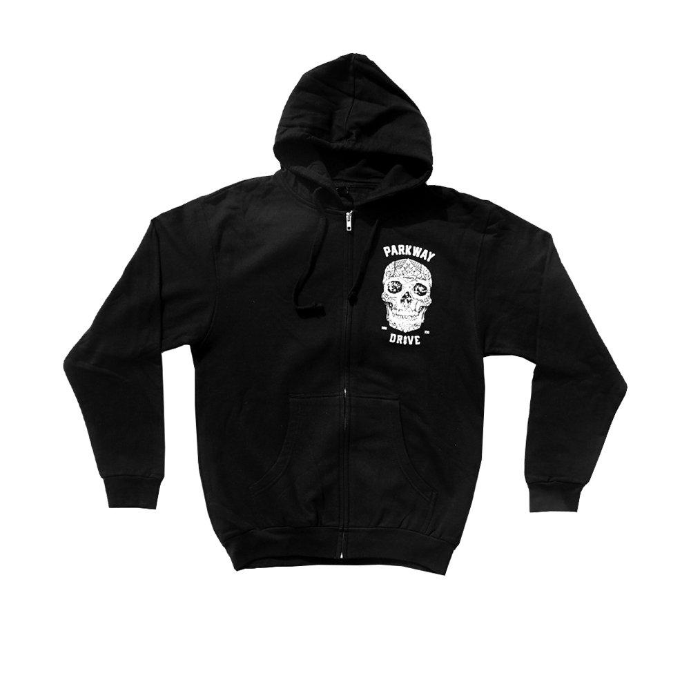 IMAGE | 2016 Skull Zip Up Sweater (Black)
