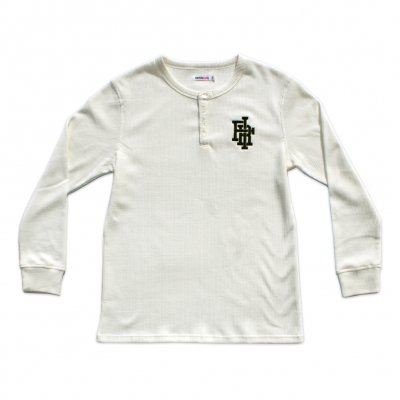 falling-in-reverse - Monogram Thermal Henley (Natural)