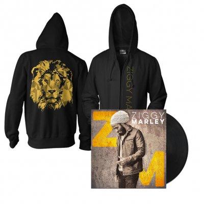 ziggy-marley - Ziggy Marley LP/Gold Lion Hoodie Bundle