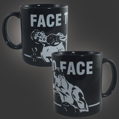 face-to-face - Boxers Coffee Mug (Black)