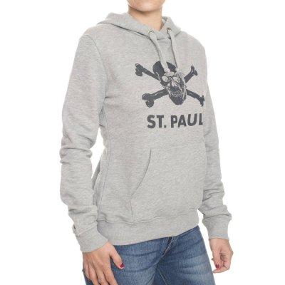 FC St Pauli - St. Pauli Skull Womens Hoodie (Gray)
