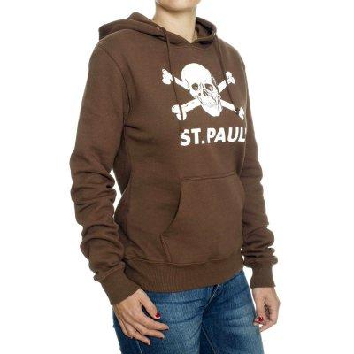 FC St Pauli - St. Pauli Skull Womens Pullover (Brown)