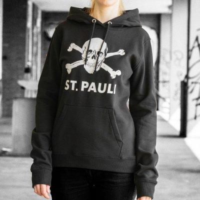 FC St Pauli - St. Pauli Skull Pullover Womens Hoodie (Black)