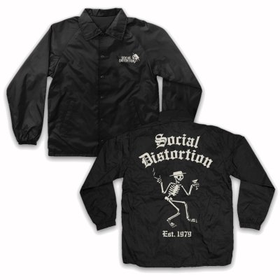 social-distortion - Skelly Windbreaker (Black)