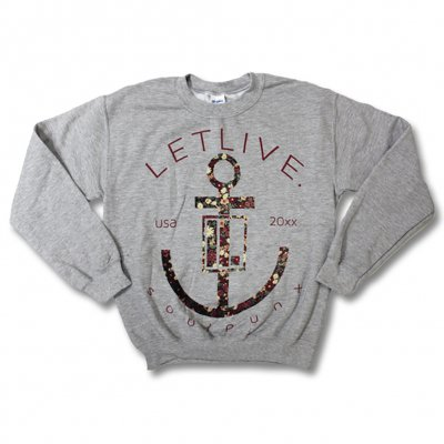 Letlive - Letlive Floral Anchor Crewneck (Heather)