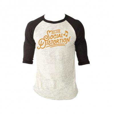 social-distortion - Established Raglan (Black/White)