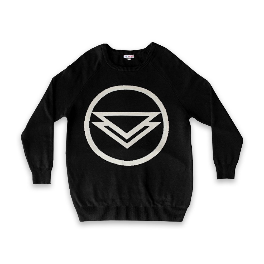 IMAGE   Logo Knitted Sweater (Black)
