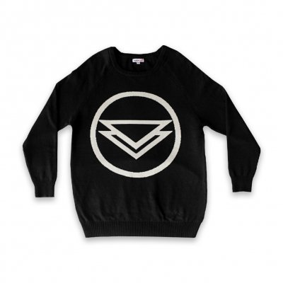 Logo Knitted Sweater (Black)