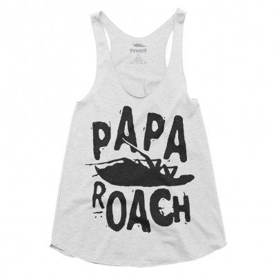 papa-roach - Classic Logo Womens Tank (White)