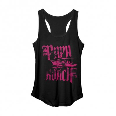 Pink Discharge Ladies Tank (Black)