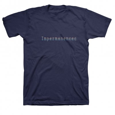 anti-records - Impermanence T-Shirt (Navy)