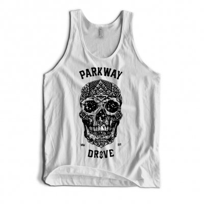 parkway-drive - 2016 Skull Tank (White)