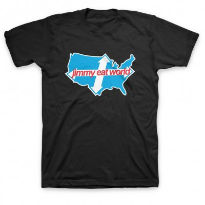 Jimmy Eat World - Across America T-Shirt (Black)
