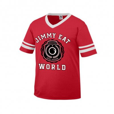Jimmy Eat World - Collegiate Jersey T-Shirt (Red)