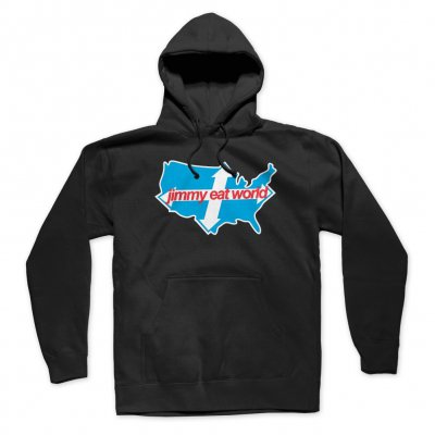 Jimmy Eat World - Across America Pullover Hoodie (Black)