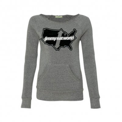 jimmy-eat-world - Across America Womens Sweatshirt (Gray)