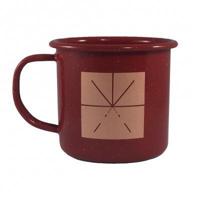 Touche Amore - Asterisk Logo Campfire Enamel Mug (Maroon)