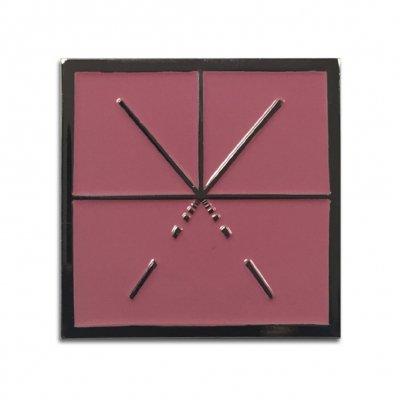 touche-amore - Square Logo Enamel Pin (Pink)