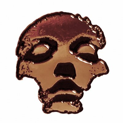 converge - Jane Doe Face Enamel Pin (Bronze)
