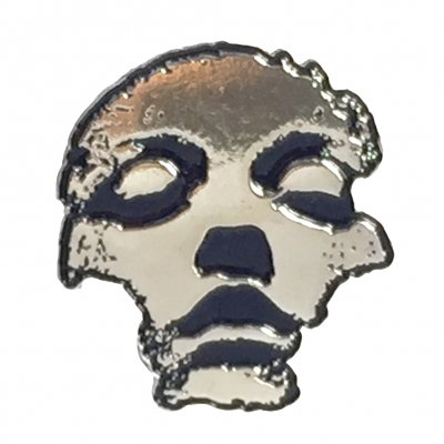 converge - Jane Doe Face Enamel Pin (Silver)