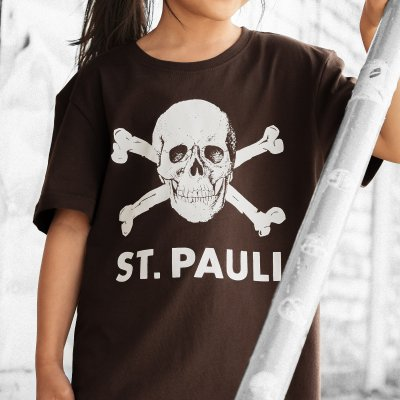 FC St Pauli - Skull Youth Tee (Brown)