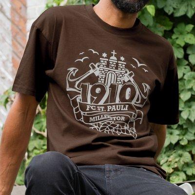 FC St Pauli - Wappen Brown T-Shirt