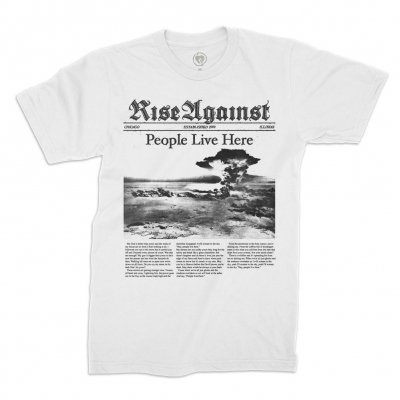Rise Against - People Live Here Tee (White)