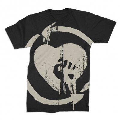 rise-against - Oversized Discharged HeartFist Tee (Black)