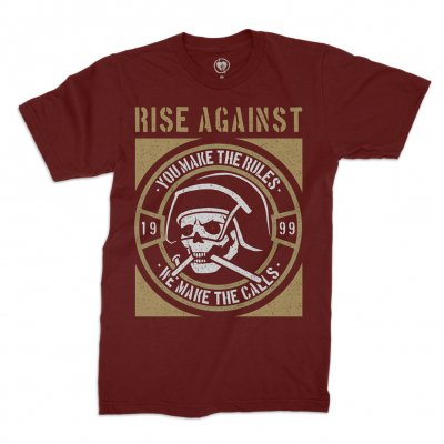 rise-against - You Make The Rules Tee (Maroon)