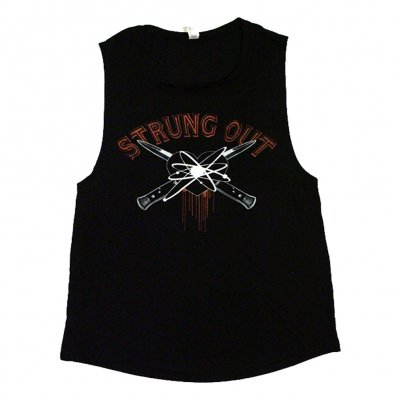 strung-out - Women's Blackheart Muscle Tank (Black)