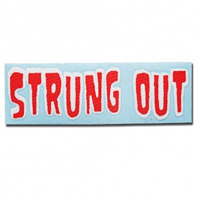 "Strung Out - Regular Monster Logo Sticker (Red/White 3""x11"")"