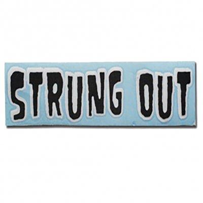 "strung-out - Regular Monster Sticker (Black/White 3""x11"")"