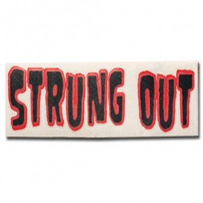 "strung-out - Regular Monster Sticker (Black/Red 3""x11"")"