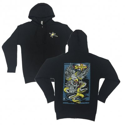Eagle Skull Zip-Up Hoodie (Black)
