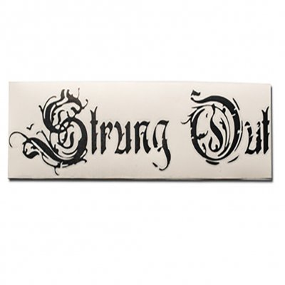 "strung-out - Regular Coffin Logo Sticker (Black 3.5""x12"")"