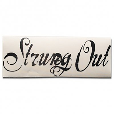 "strung-out - Big Ass Script Logo Sticker (Black 6""x24"")"