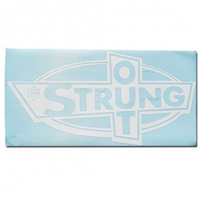 "strung-out - Big Ass OG Logo Sticker (White 12.5""x24"")"