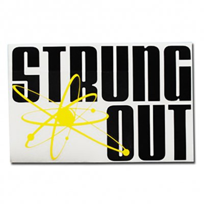 "strung-out - Band Name Astrolux (Black/Yellow 4.5""x7"")"