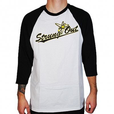 Strung Out - Baseball Logo Raglan (White/Black)