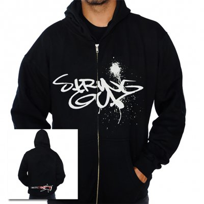 Spray Paint Zip-Up Hoodie (Black)